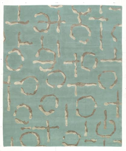 Tufenkian Shakti Mercurio Pewter Lake Area Rug