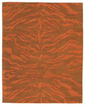 Tufenkian Setana Rajah Orange Persimmon Area Rug