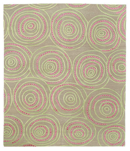 Tufenkian Shakti Ring-A-Ding Acid Berry Area Rug