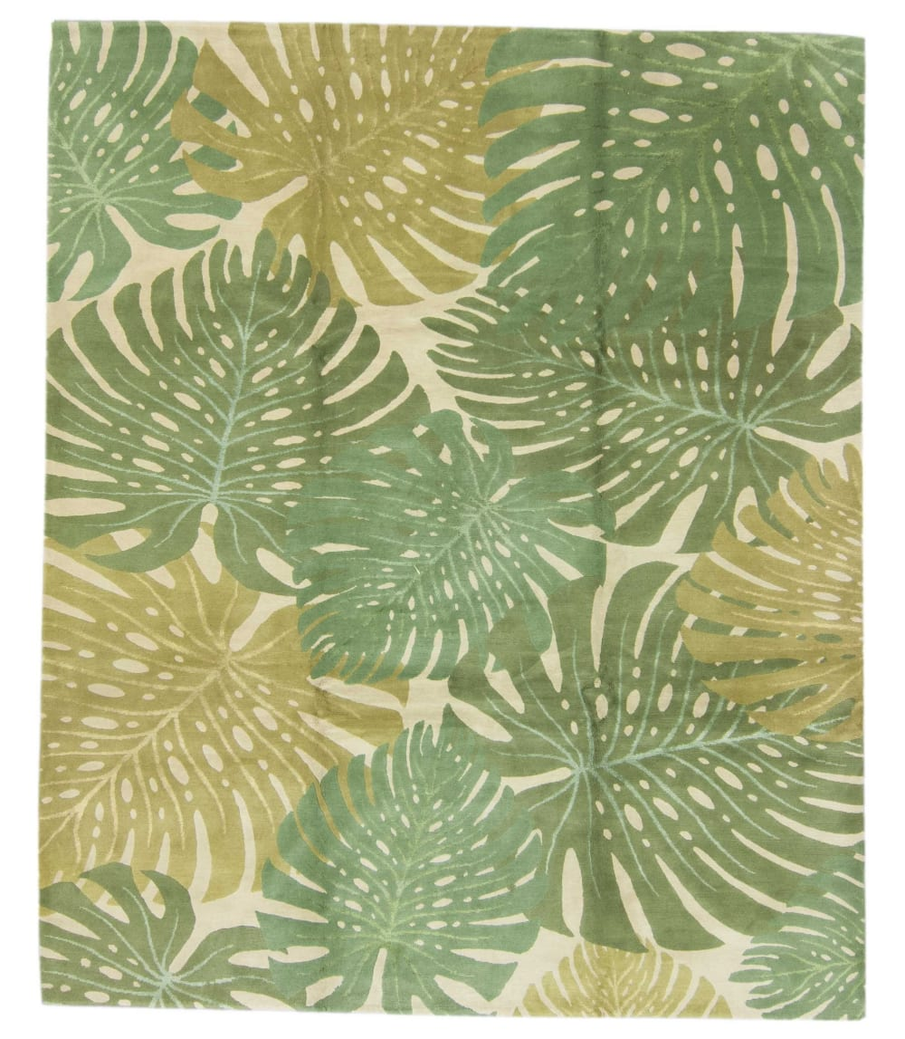 Tufenkian Tropical Leaves Green Rug Studio