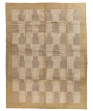 Tufenkian Tibetan Double Square Border Beige - Gold Area Rug
