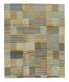 Tufenkian Tibetan Blue/Brown Stripes 8' x 10' Rug