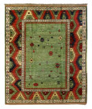 Tufenkian Knotted Bordjalu Green Area Rug