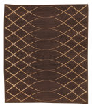 Tufenkian Tibetan Arching Lattice Espresso Area Rug