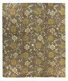 Tufenkian Knotted Kuna Flower Brown/Gold Area Rug