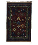 Tufenkian Knotted Gendje Gul Red Wine Area Rug