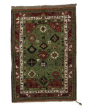 Tufenkian Knotted Gendje Gul Green Area Rug