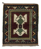 Tufenkian Knotted Berry/Green 4' Square Rug