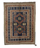 Tufenkian Knotted Blue/Coral 6' x 7' Rug
