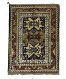 Tufenkian Knotted Kazak II Light Green/Yellow Area Rug
