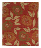 Tufenkian Tibetan Flower Power Cinnamon Stick Area Rug