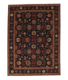 Tufenkian Knotted Sheared Black/Rust 9' x 12' Rug