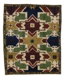 Tufenkian Knotted Star Kazak Simple Area Rug