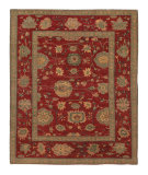 Tufenkian Knotted Firjustan Ruby Sheared Area Rug