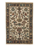 Tufenkian Knotted Ivory/Navy 4' x 6' Rug