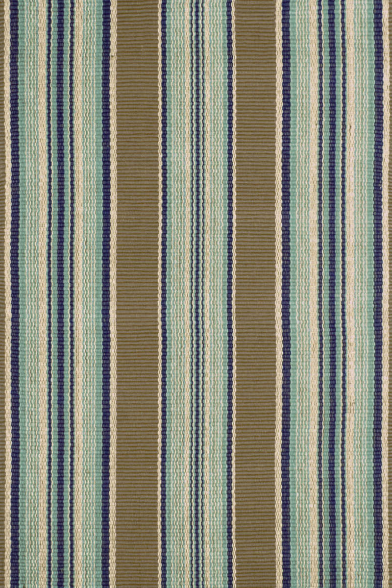 Dash And Albert Blue 56167 Heron Stripe Area Rug 56167