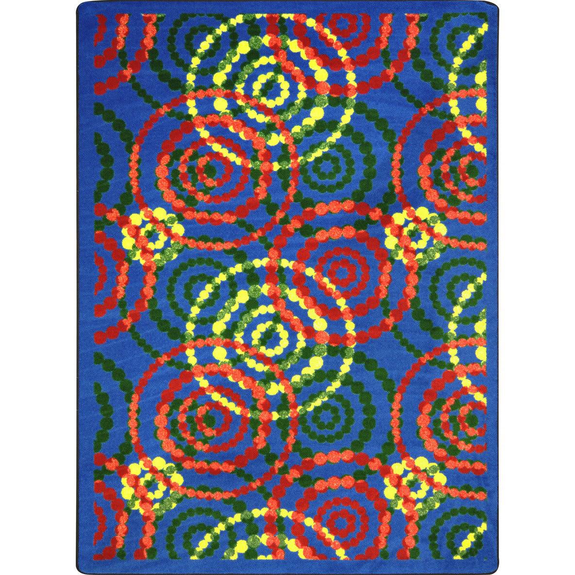 Joy Carpets Kid Essentials Dottie Rainbow Rug Studio