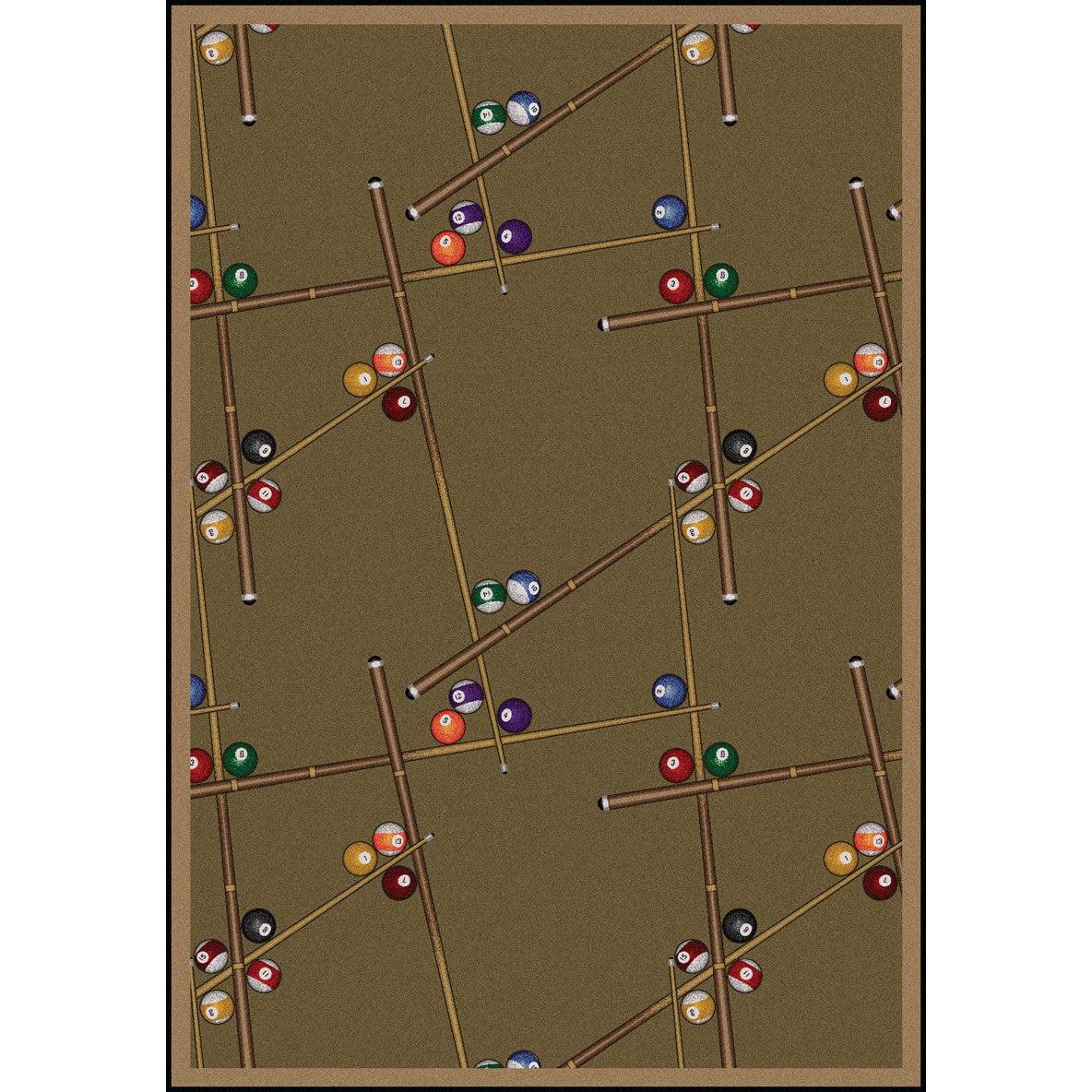 Joy Carpets Games People Play Snookered Dark Dust Rug Studio