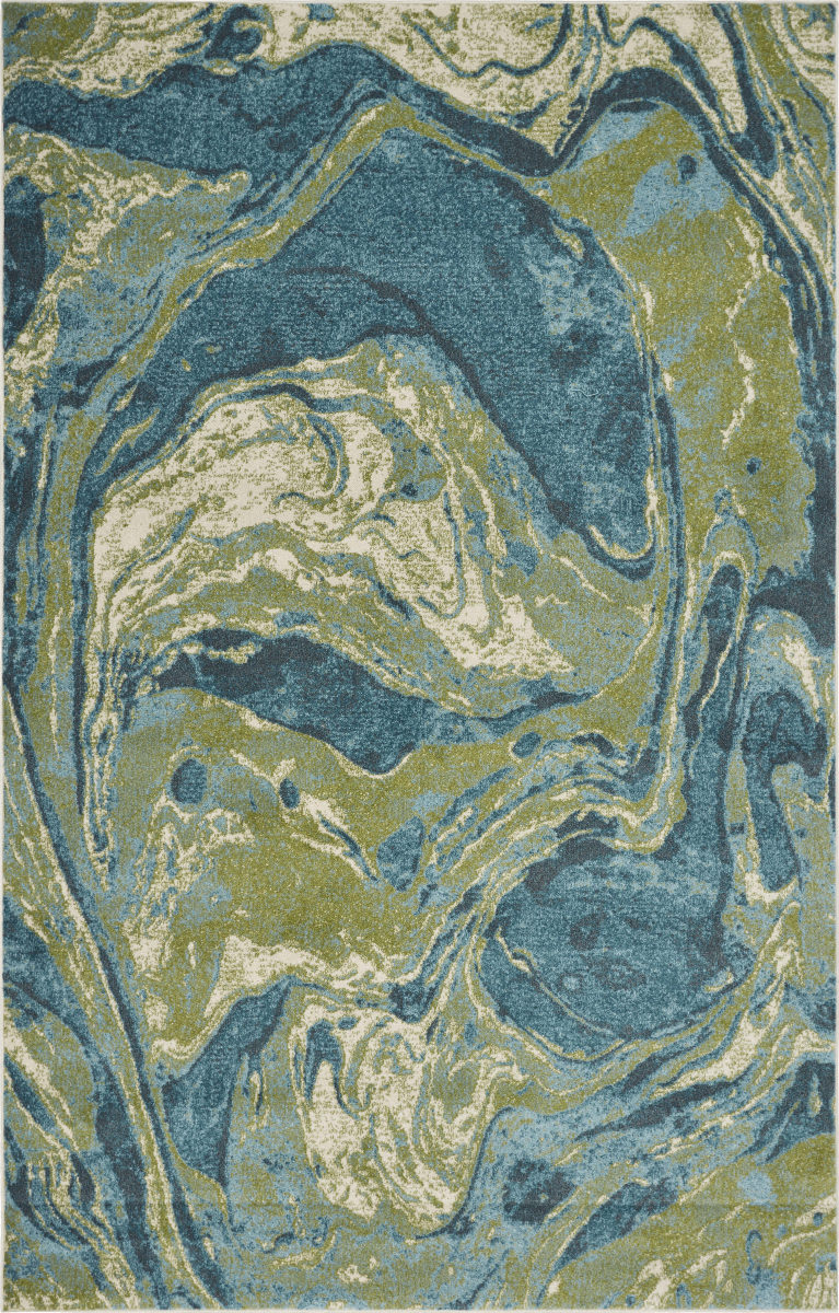 Kas Watercolors 6238 Teal Rug Studio