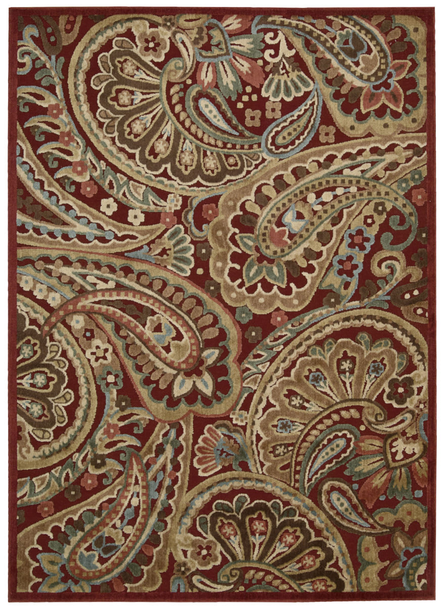 Nourison Graphic Illusions Gil14 Red Area Rug 123586