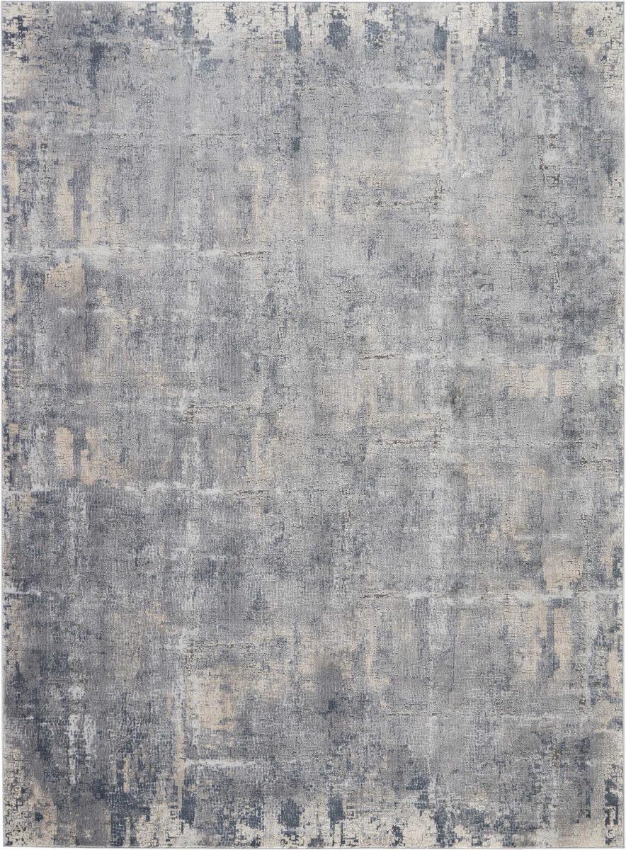 Nourison Rustic Textures Rus06 Grey Beige Rug Studio