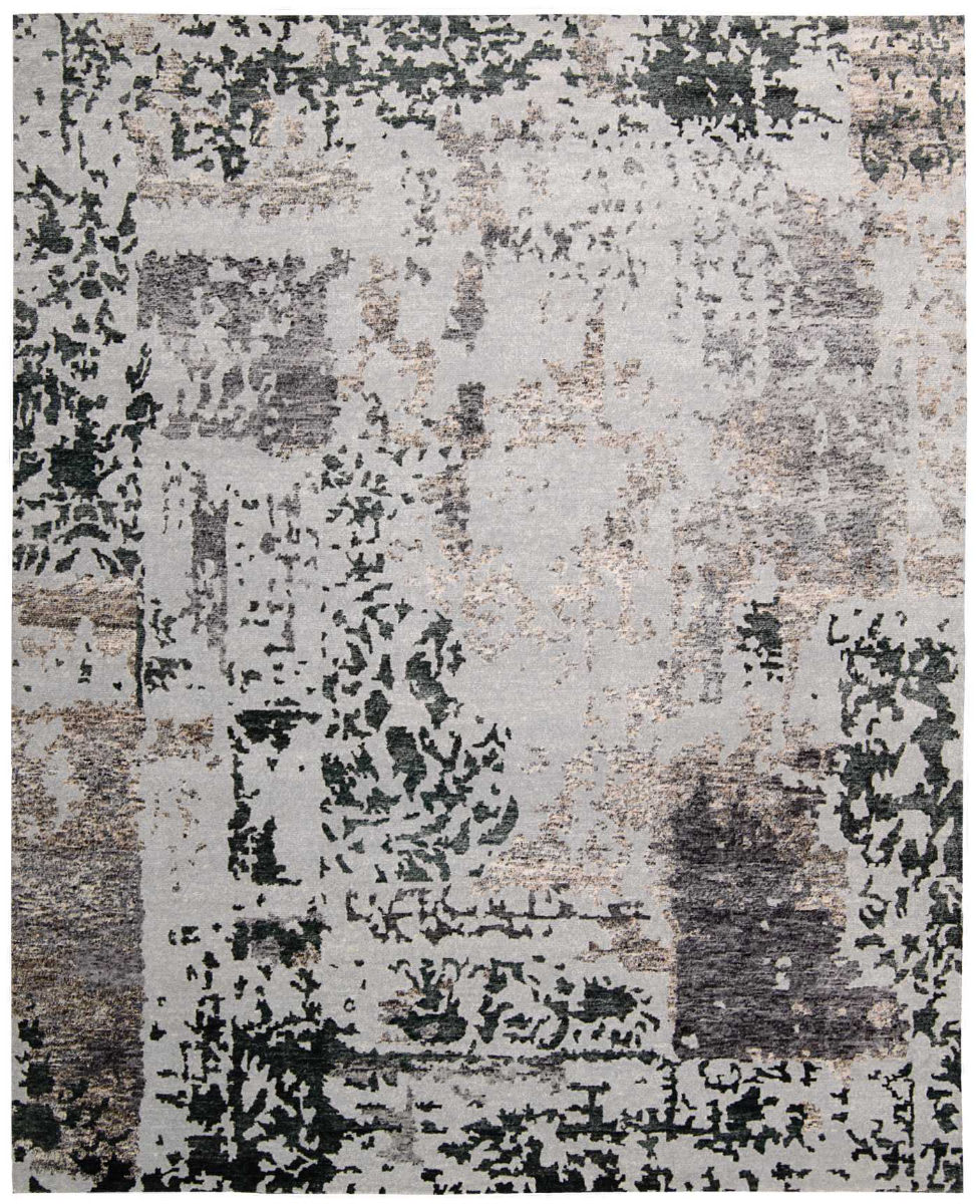 Nourison Silk Shadows Sha16 Silver Grey Area Rug 140507