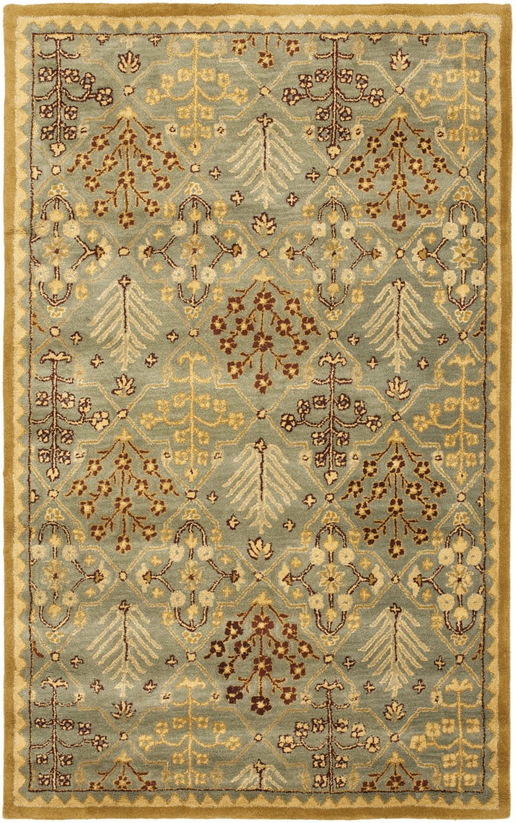 Safavieh Antiquities At613a Light Blue Gold Rug Studio