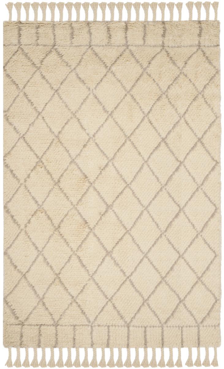 Safavieh Casablanca Shag Csb725b Ivory Light Grey Area