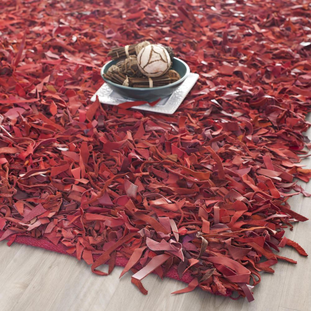 Safavieh Leather Shag Lsg511d Red Rug Studio
