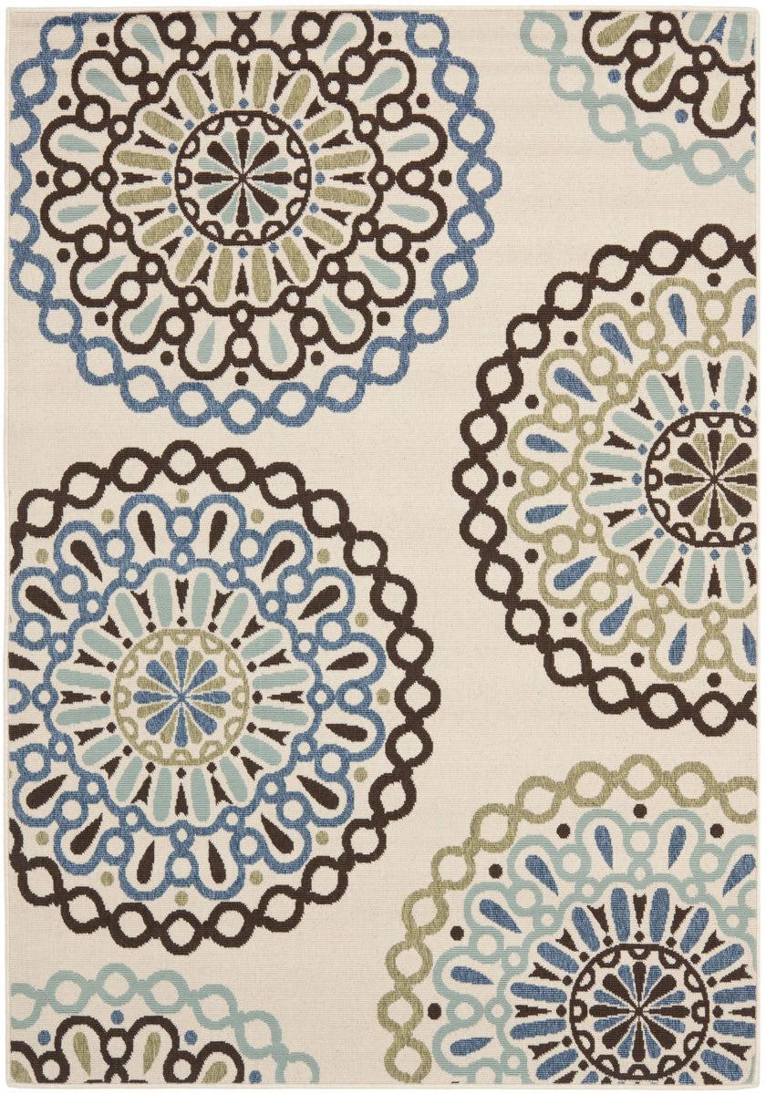 Safavieh Veranda Ver092 615 Cream Blue Area Rug 112227