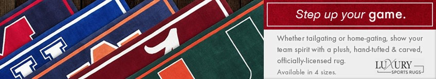college sports rugs