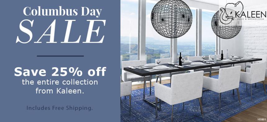 Kaleen Columbus Day Rug Sale - Save 25%