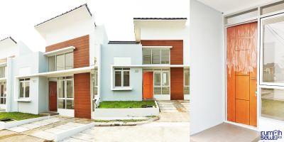 Disewakan Rumah di Citra Maja Raya - Cluster Gaharu Tipe RE -> Tampak Samping, Tampak Depan, Pintu Masuk