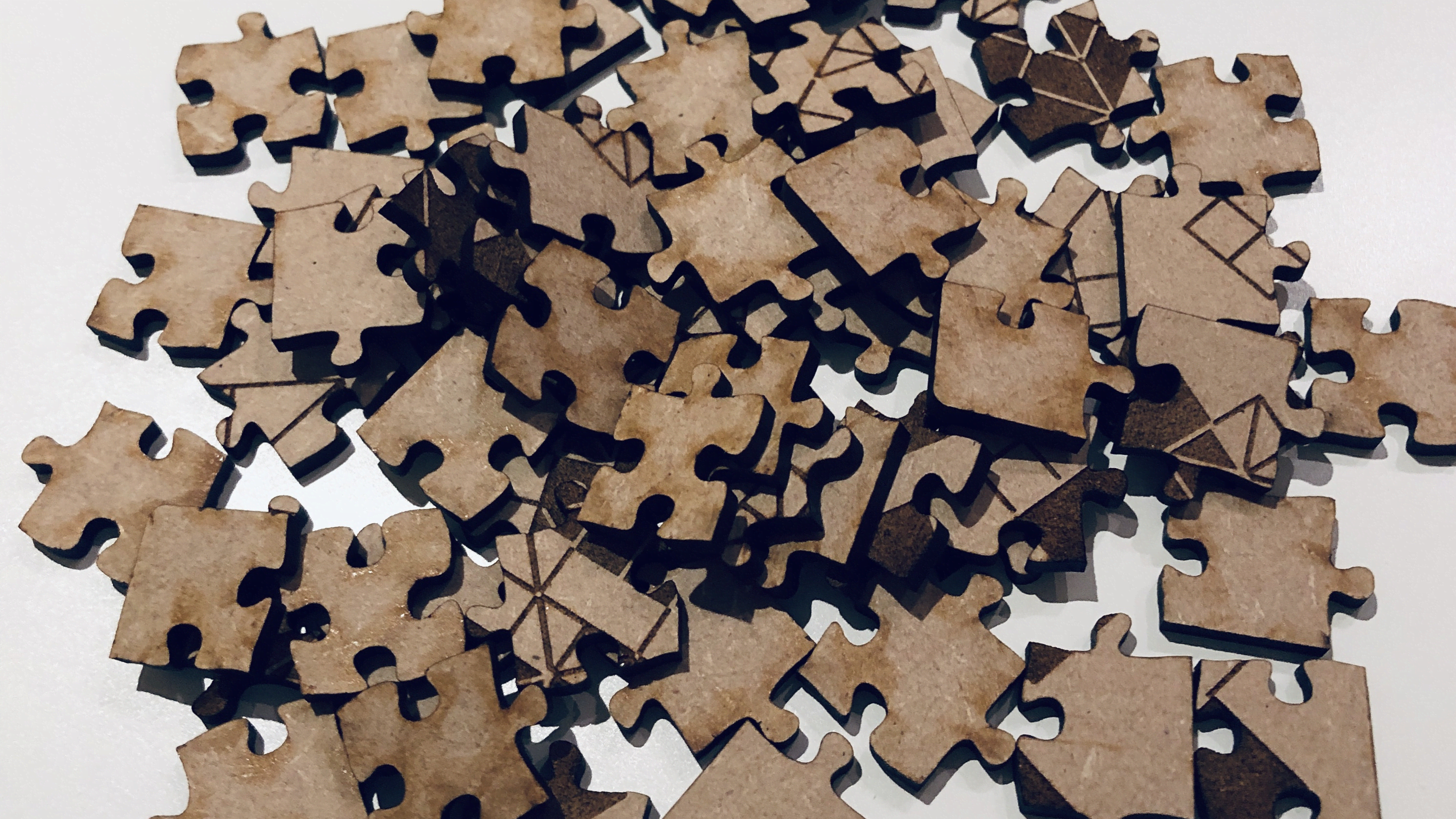 A photo of the mdf jigsaw pieces