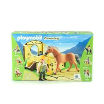 PLAYMOBIL WORK HORSE WITH STALL