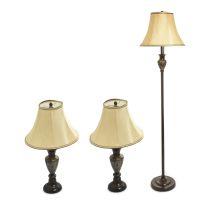 SET LAMPU COMBO MARBLE 3 UNIT - BROWN