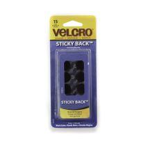 VELCRO COINS STICKY 1,59 CM - HITAM 15 SET