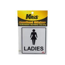 KRIS STIKER ANODIZED 9X10CM - LADIES