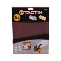 TACTIX SET AMPLAS 120 GRIT 280X230MM 5 PCS