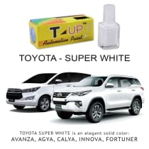 TOYOTA - SUPER WHITE II [T-UP CAT OLES PENGHILANG GORESAN] ALL MODELS - AGYA  AVANZA VELOZ CALYA ETIOS-VALCO FORTUNER INNOVA NAV-1 RUSH VIOS YARIS