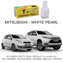 T-UP CAT OLES PENGHILANG GORESAN & BARET (DEEP SCRATCH) DI BODI & BUMPER MOBIL MITSUBISHI - WHITE PEARL