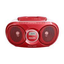 PHILIPS AZ215R SOUNDMACHINE CD PLAYER RADIO - RED