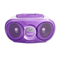 PHILIPS AZ215V SOUNDMACHINE CD PLAYER RADIO - VIOLET