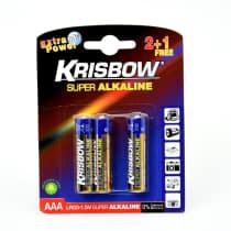 KRISBOW BATERAI ALKALINE UKURAN AAA 2+1