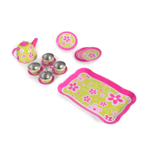 JUST FOR TEA TIN TEA SET - HIJAU PINK