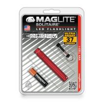 MAGLITE SENTER KECIL LED SOLITAIRE HANGPACK SJ3A036 - MERAH