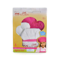 LITTLE KITCHEN SET CELEMEK - MERAH MUDA