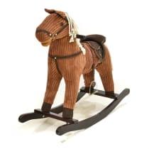LITTLE GIGGLES ROCKING HORSE DENGAN SUARA -  COKLAT