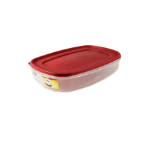 RUBBERMAID EASY FIND LID PERSEGI 5.6 LTR - MERAH