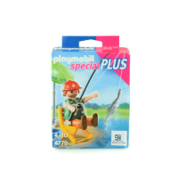 PLAYMOBIL FISHERMAN WITH EQUIPMENT